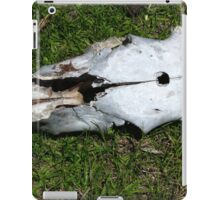 Cow Skull With Bullet Hole iPad Case/Skin