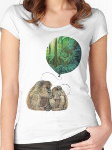 Balloon Monkey dream Women's Fitted Scoop T-Shirt