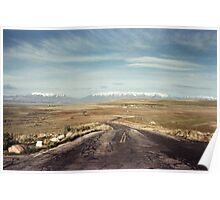 The road from Antelope Island Poster
