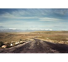 The road from Antelope Island Photographic Print