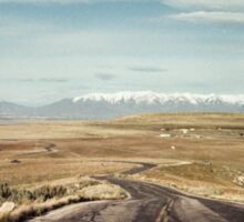 The road from Antelope Island Sticker