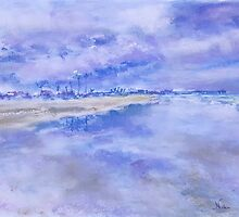 Oceanside Clouds (pastel) by Niki Hilsabeck