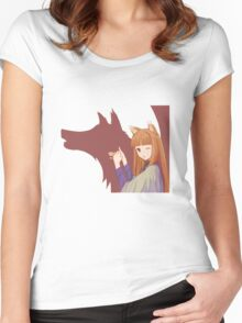 Spice and Wolf Women's Fitted Scoop T-Shirt