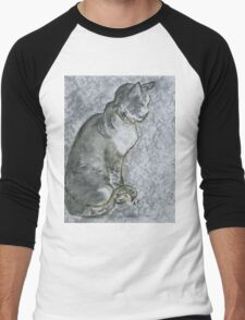 Cat in Zen Men's Baseball ¾ T-Shirt