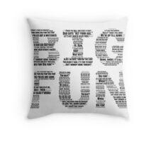 """Heathers """"Big Fun"""" Lyrics Throw Pillow"""