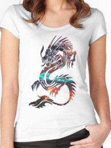 Dragon Picture Fill Women's Fitted Scoop T-Shirt