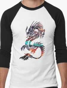 Dragon Picture Fill Men's Baseball ¾ T-Shirt