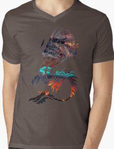 Dragon Picture Fill Mens V-Neck T-Shirt