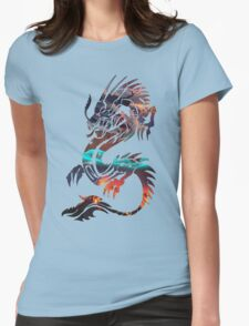 Dragon Picture Fill Womens Fitted T-Shirt