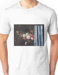 Adriaen Van Der Spelt  - Still Life With A Flower Garland And A Curtain 1658. Still life with flowers: still life with flowers, flowers, blossom, nature, botanical, floral , flora, wonderful flowers Unisex T-Shirt