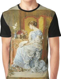 Agapit Stevens - Indecision. Woman portrait: sensual woman, femine, memories, memory, dream, doubt, sorrow, jewelry, gifts, beautiful dress, tenderness Graphic T-Shirt