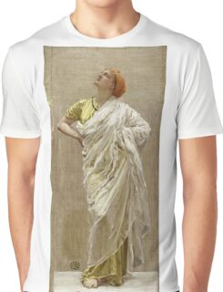 Albert Joseph Moore - Study For Birds. Woman portrait: sensual woman, beautiful dress, female style, charm , delicate , diaphanous,, tissue, garments, figure , draped, erotic pose Graphic T-Shirt