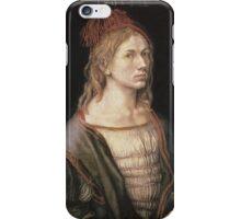 Vintage famous art - Albrecht Durer - Autoportrait 1493 iPhone Case/Skin