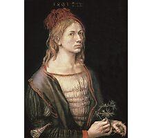 Vintage famous art - Albrecht Durer - Autoportrait 1493 Photographic Print