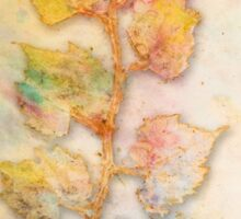Autumn Leaves large decorative art prints Sticker