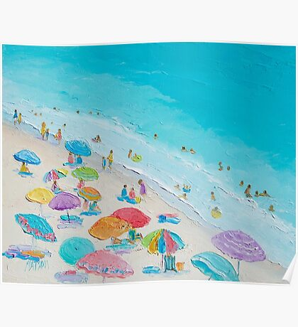 Beach painting - Summer Love Poster