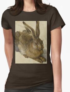 Vintage famous art - Albrecht Durer - Hare 1502 Womens Fitted T-Shirt