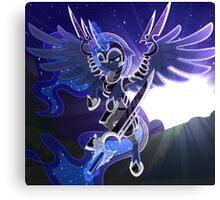 Princess Luna in Armor Canvas Print