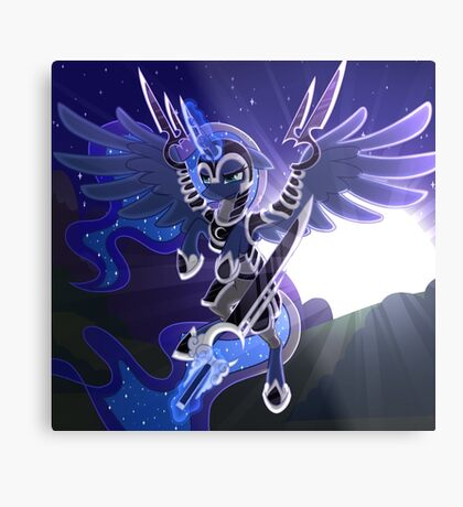 Princess Luna in Armor Metal Print
