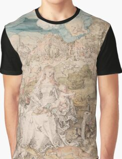 Vintage famous art - Albrecht Durer - Mary Among A Multitude Of Animals,  1503 Graphic T-Shirt