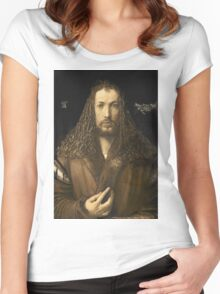 Vintage famous art - Albrecht Durer - Self Portrait Women's Fitted Scoop T-Shirt