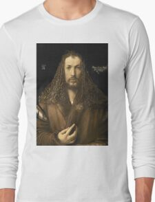 Vintage famous art - Albrecht Durer - Self Portrait Long Sleeve T-Shirt