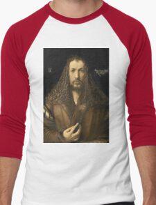 Vintage famous art - Albrecht Durer - Self Portrait Men's Baseball ¾ T-Shirt