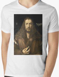 Vintage famous art - Albrecht Durer - Self Portrait Mens V-Neck T-Shirt