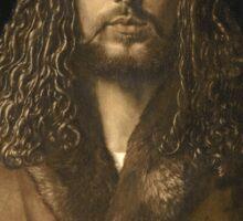 Vintage famous art - Albrecht Durer - Self Portrait Sticker