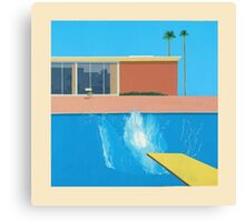 David Hockey - A Bigger Splash Canvas Print