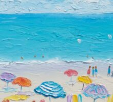 Beach painting - Fun in the sun Sticker