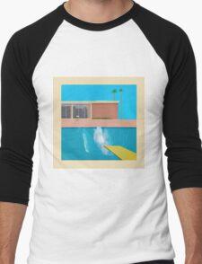 David Hockey - A Bigger Splash Men's Baseball ¾ T-Shirt