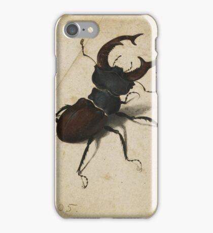 Vintage famous art - Albrecht Durer - Stag Beetle 1505 iPhone Case/Skin