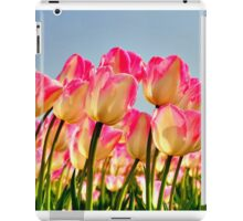 Pink Tulips Bow For The Sun iPad Case/Skin
