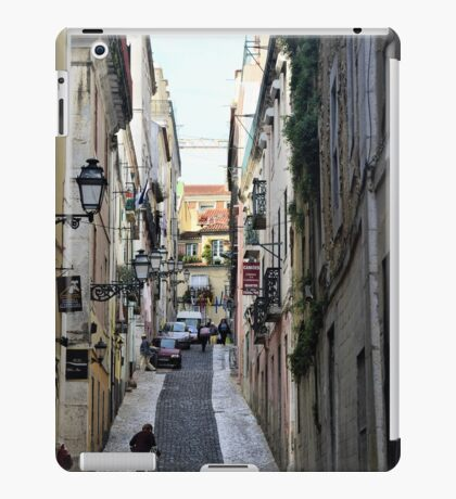 A cobbled street in Lisbon, Portugal iPad Case/Skin