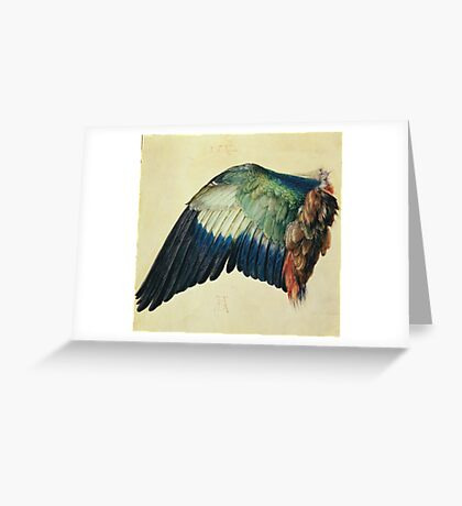 Vintage famous art - Albrecht Durer - Wing Of A Blue Roller Greeting Card