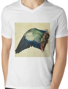 Vintage famous art - Albrecht Durer - Wing Of A Blue Roller Mens V-Neck T-Shirt