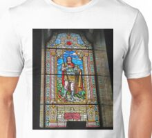 Stained glass Window, St George's Cathedral, Novi Sad, Serbia Unisex T-Shirt