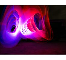 Spiral Light Painting Photographic Print