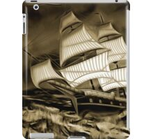 An old style digital painting of a Sailing Battleship iPad Case/Skin