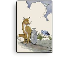 Fox, Falco, and The Jar of Truth Canvas Print