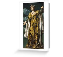 Vintage famous art - Alessandro Turchi  - Allegory Of Hope Greeting Card