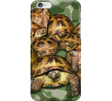 Greek Tortoise Group on Green Camo iPhone Case/Skin
