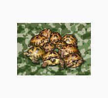 Greek Tortoise Group on Green Camo Unisex T-Shirt