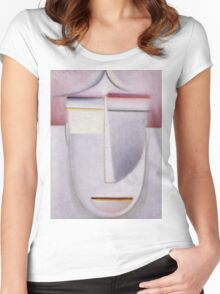 Vintage famous art - Alexei Jawlensky  - Abstract Head Africa Women's Fitted Scoop T-Shirt