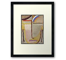 Vintage famous art - Alexei Jawlensky  - Abstract Head Composition No 2  Winter  Framed Print