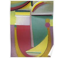 Vintage famous art - Alexei Jawlensky  - Abstract Head Inner Vision Poster