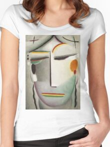 Vintage famous art - Alexei Jawlensky  - Heilandsgesicht Remote King - Buddha Ii Women's Fitted Scoop T-Shirt