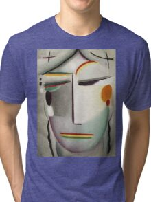 Vintage famous art - Alexei Jawlensky  - Heilandsgesicht Remote King - Buddha Ii Tri-blend T-Shirt
