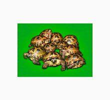 Greek Tortoise Group on Bright Green Background Unisex T-Shirt